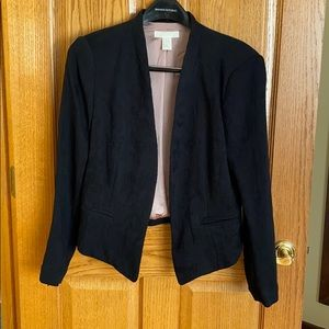 H&M pleated cropped blazer